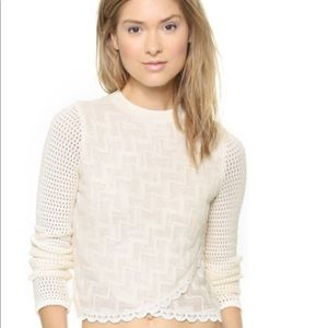 Free People Antoinette Open Knit Sweater